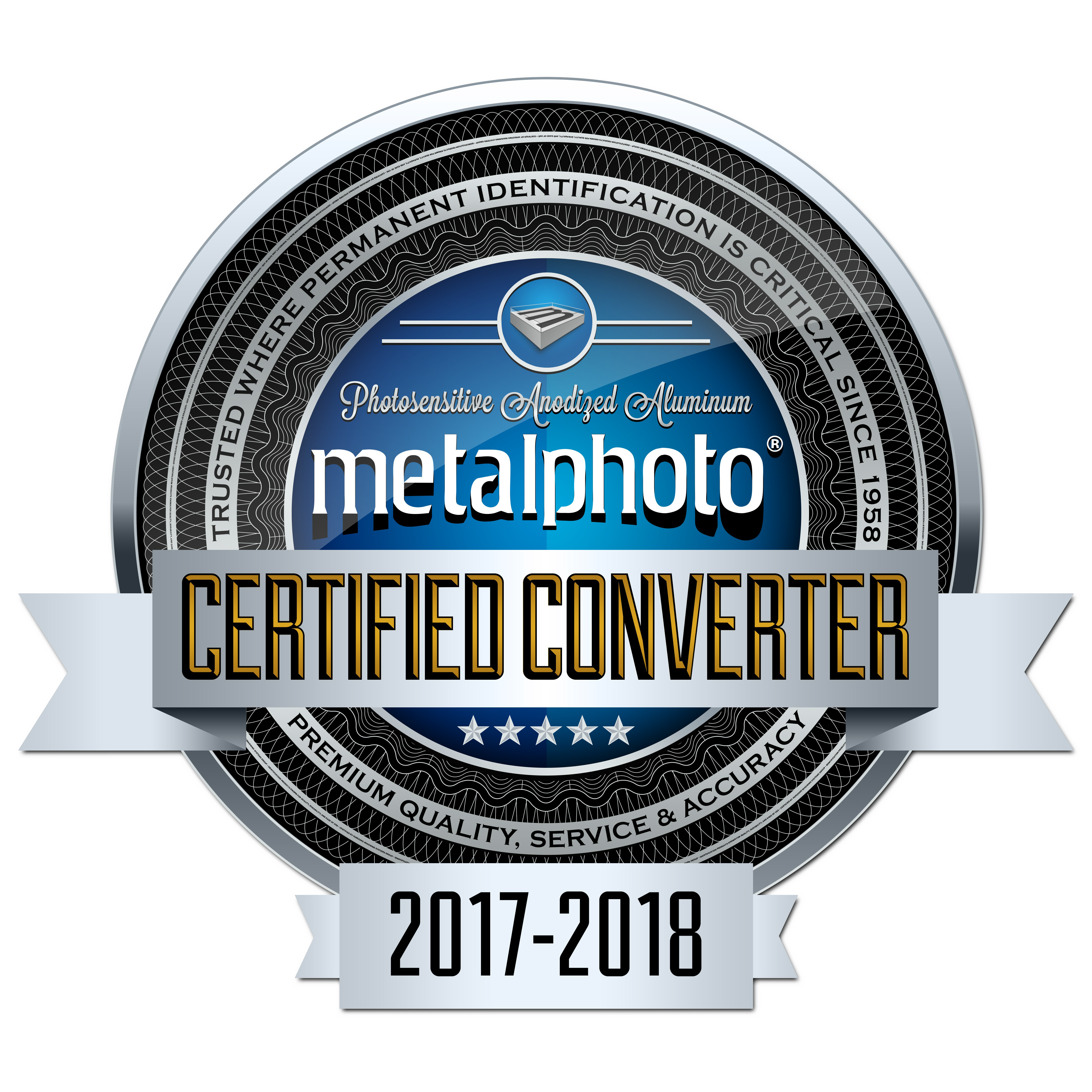 QNP is a Metalphoto Certified Converter - Boat Capacity Plates