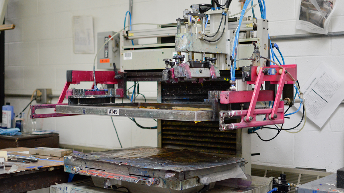 QNP has multiple screen print machines to produce 4CP products