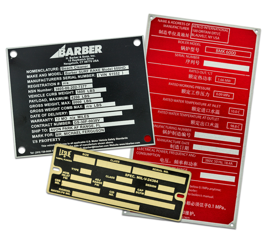 QNP makes a variety of Etched Metal Nameplates